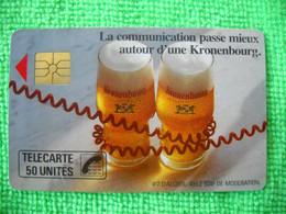 7080 Télécarte Collection Communication  KRONENBOURG  (Boisson) 50u  ( Recto Verso)  Carte Téléphonique - Alimentazioni