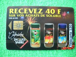 7086 Télécarte Collection CAFE JACQUES VABRE Soluble  Cafériales  120u  ( Recto Verso)  Carte Téléphonique - Alimentazioni