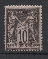 France - 1898 - N°Yv. 103 - Type Sage 10c Noir Type I - Neuf Luxe ** / MNH / Postfrisch - 1898-1900 Sage (Type III)