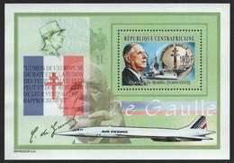 Zentralafrikanische Rep. 2003 - Mi-Nr. Block L 673 ** - MNH - Charles De Gaulle - Repubblica Centroafricana