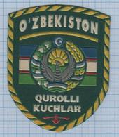 UZBEKISTAN / Patch Abzeichen Parche Ecusson / Military. Armed Forces. 1990s - Escudos En Tela