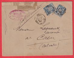 N°90X2 LEVEE EXCEPTIONNELLE PARIS HOTEL DE VILLE E1 POUR CAEN 1893 - 1877-1920: Semi Modern Period