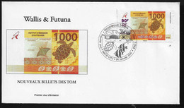 BG70 Wallis Et Futuna FDC Nouveaux Billets Des TOM 2014 - FDC