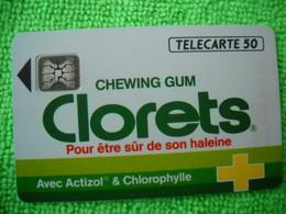 7089 Télécarte Collection CLORETS  Chewing Gum  (Sucre) Actizol Chlorophylle  50u  ( Recto Verso)  Carte Téléphonique - Alimentazioni