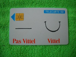 7091 Télécarte Collection Pas VITTEL VITTEL  (Boisson Eau )   50u  ( Recto Verso)  Carte Téléphonique - Alimentazioni