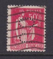 Perforé/perfin/lochung France No 283 CJ Ets Cleeves Jacqueline & Depeaux - Gezähnt (Perforiert/Gezähnt)