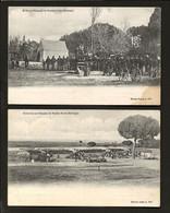 Conjunto 2 Postais Antigos. El-Rei D.CARLOS I + Exercicios Militares No Polygono De VENDAS NOVAS (Evora). Portugal 1900s - Lisboa