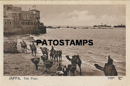 161853 ISRAEL JAFFA THE PORT & CAMEL POSTAL POSTCARD - Israel