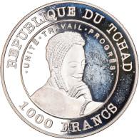 Monnaie, Chad, 1000 Francs, 2001, Paris, FDC, Argent, KM:21 - Chad
