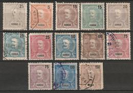 Portuguese Congo 1898 Sc 13/30  Partial Set MH*/used Disturbed Gum - Portugiesisch-Kongo