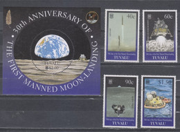 Tuvalu 1999 The 30th Anniversary Of The First Manned Landing On Moon (stamps 4v+SS/Block) MNH - Tuvalu