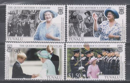Tuvalu 1999 The 99th Anniversary Of The Birth Of Queen Elizabeth The Queen Mother Stamps 4v MNH - Tuvalu