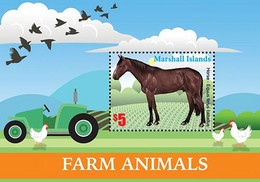 Marshall Islands 2020 Fauna Farm Animals, Horse, Chicken 202104 - Marshall Islands