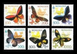 Mongolia 2010 Mih. 3762/67 Fauna. Butterflies MNH ** - Mongolia