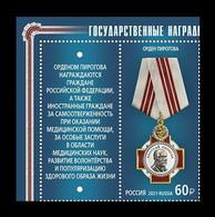 Russia 2021 Mih. 2993 Order Of Pirogov (with Label) MNH ** - Ongebruikt