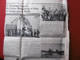CAMARGUE ECOLIERS MONTPELLIERAINS & SETOIS VISITE MANADE TROUCHAUD MAS DE SENEBIER 1934 - Historische Documenten