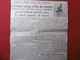 CAMARGUE L EXISTANCE SAUVAGE ET LIBRE DES TAUREAUX MAXIME GRANIER EX BAYLE MANADE GRANON BARONCELLI - Historische Documenten