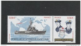France 2009 NAVIRE PORTE HELICOPTERE JEANNE D ARC LA PAIRE NEUF** YT 4423+4424 - P4423 - Unused Stamps