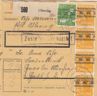 BiZone Paketkarte 1948: Ulbering Nach Haar Bei München, Frauenklinik - American,British And Russian Zone