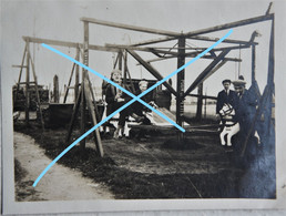 Photo ADINKERKE Adinkerque Région Veurne De Panne Ghyvelde Bray Dunes De Moeren Carrousel Plaine De Jeux 1926 - Lieux