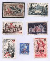 Lot De 7 Timbres Français Oblitérés Surchargés En Francs CFA - Années 1950 - Ohne Zuordnung
