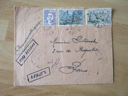 Lettre Pneumatique 3 Timbre Non Reclame Rebuts Nombreux Cachet De Transit - 1961-....