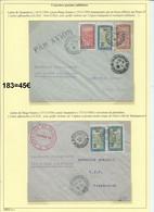 Lot De Deux Lettres Par Avion De Tananarive Pour Diego Suarez (Madagascar) Et Retour  (courrier Postal Militaire) 183 - Airmail