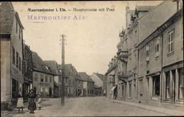 CPA Marmoutier Maursmünster Elsass Bas Rhin, Hauptstraße Mit Post - Andere Gemeenten