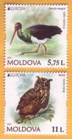 2021 Moldova Moldavie  EUROPA CEPT-2021  Owl, Stork, Fauna, Birds 1v Mint - Moldova