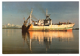 """L'""""AUSTRAL"""" à KERGUELEN - Chalutier Usine De Grande Pêche Appartement à La S.A.P.M.E.R (carte Photo) - Postzegels (afbeeldingen)"""