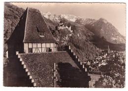 PRINCIPALITY OF LIECHTENSTEIN - Red House, Castle And Capitale Vaduz (carte Photo) - Liechtenstein