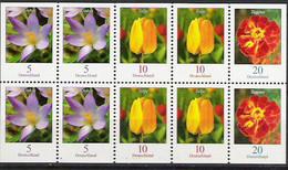 2007 Deutschland  Germany   Mi. 2480 2471 2484  **MNH Blumen - Teilgezähnt - Unused Stamps