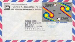 EL SALVADOR - AIRMAIL 1977  > WOLFGANG BEI HANAU/DE /QF 301 - El Salvador