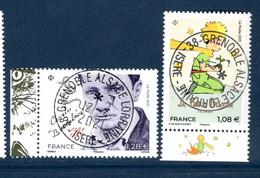 France 2021.Issu De La Mini Planche Beaudelaire & Le Petit Prince. Cachet Rond Gomme D'origine. - Used Stamps
