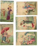5 Chromos Bognard Bog2-18 Jeux Et Promenades -  Villiame & Huard - Beaune - Les Chromos Sont Coupés - Artis Historia