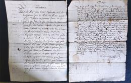 2 Actes 1625 Et 1670 Ardèche Satillieu - Manoscritti