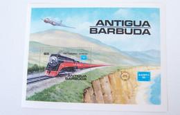 ANTIGUA BARBUDA 1986 MNH ** AIRPLANES AVIONS TRAINS RAILWAYS EISENBAHNEN TRENES TRENI TREINEN TRAIN RAILWAY LOCOMOTIVES - Antigua And Barbuda (1981-...)