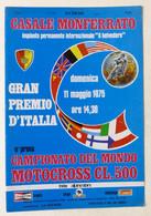 Casale - Campionato Del Mondo Motocross - Gran Premio D'Italia - 1975 Programma - Altri