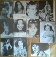 69 Schede Foto Fotocard Modelle/Attrici/Cantanti A B/n (2 Col.) - Fotografia