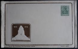 Privatganzsache - Kompletter Kartenbrief, 5Pf. Germania, Völkerschlacht-Denkmal, Verlag  Deutscher Patriotenbund  (2703) - Stamped Stationery