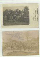 68 - GUEVENHEIM - 2 CP PHOTO - Groupe De Soldats Pendant Guerre 14 Animé Bon état - Otros Municipios