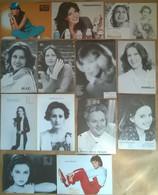 62 Schede Foto Fotocard Modelle/Attrici/Cantanti A B/n (4 Col.) - Fotografia