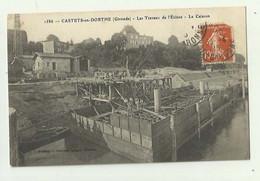 33 - CASTETS En DORTHE - Travaux De L'ecluse Le Caisson Animé Bon état - Autres Communes