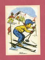 CPM..Germaine BOURET :  Slalom - Bouret, Germaine
