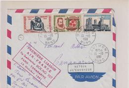 PREMIERE LIAISION AERIENNE PARIS-TANANARIVE-AIR FRANCE PAR QUADRIREACTEUR BOEING 707-12 OCTOBRE 1961 - Luftpost