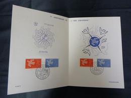 "FR.1961 1309 & 1310 : "" EUROPA "" Luxe Card FDC Paris & Strassbourg - 1960-1969"