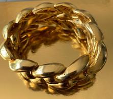 Vintage - Ungaro - Goudkleurige Zware  Schakelarmband - Bracelets
