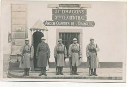 54) Lunéville : Carte-Photo -  Militaires - 31e Dragons - Quartier Clarenthal (Ca 1930) (EB) - Luneville