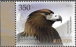 ARMENIA, 2021, MNH, EUROPA, ENDANGERED SPECIES,BIRDS, BIRDS OF PREY, EAGLES,1v - Other