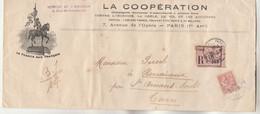 Yvert 125 Mouchon Lettre Recommandée Illustrée La France Aux Français PARIS 118  1903 à St Amans Soult Tarn - 1877-1920: Semi-Moderne